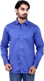 Cotton Signs Men's Printed Casual Blue S...