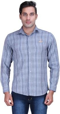 Alamurit Men's Checkered Casual Reversible Grey Shirt