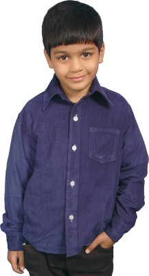 Fashion N Style Boy's Solid Casual Blue Shirt