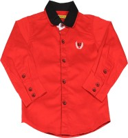 Gini & Jony Boys Solid Casual Red Shirt best price on Flipkart @ Rs. 659