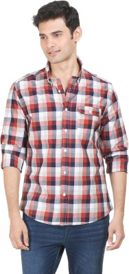 Flippd Men's Checkered Casual Red Shirt