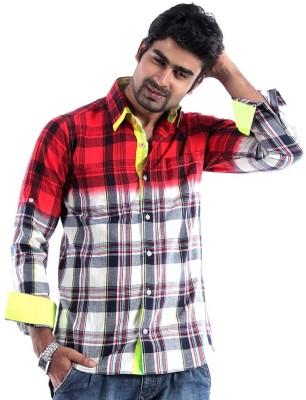S9 Men's Checkered Casual Multicolor Shirt