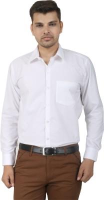Crazy4White Men's Solid Formal White Shirt