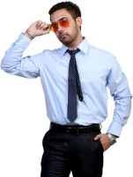 Port Formal Shirts (Men's) - Port Men's Self Design Formal White Shirt