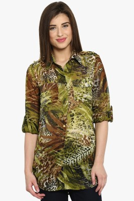 Ladybug Women's Printed Casual Multicolor Shirt