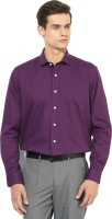 First Row Formal Shirts (Men's) - First Row Men's Solid Formal Brown Shirt
