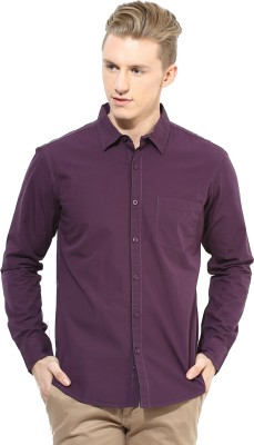 First Row Men's Solid Formal Brown Shirt