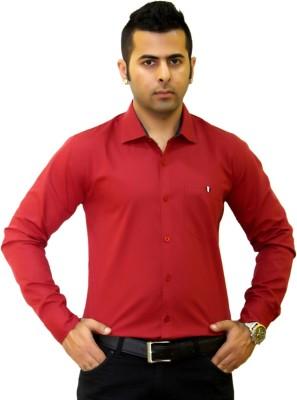Togsun Men's Solid Formal Red Shirt