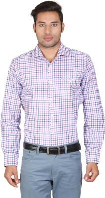 Don Vino Men's Checkered Casual Pink, Blue, White Shirt