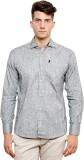Ebry Men's Striped Casual White, Grey Sh...