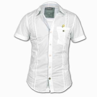 Blacksoul Men's Solid Casual White Shirt