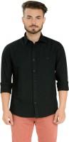 Club X Formal Shirts (Men's) - Club X Men's Solid Formal Black Shirt