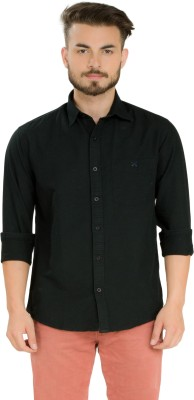 Club X Men's Solid Formal Black Shirt