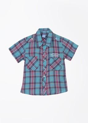 Cherokee Kids Boy's Checkered Casual Blue, Pink Shirt