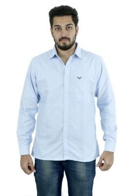 Fast Look Men's Solid Formal Light Blue Shirt
