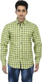 Binnote Men's Checkered Casual Green Shi...