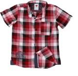 Ice Boys Boys Checkered Casual Red Shirt