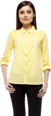Stylestone Women's Self Design Casual Yellow Shirt