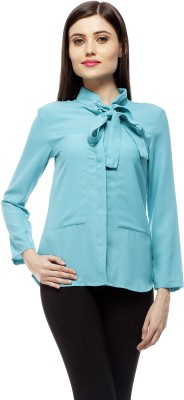 Stylestone Women's Solid Casual Blue Shirt
