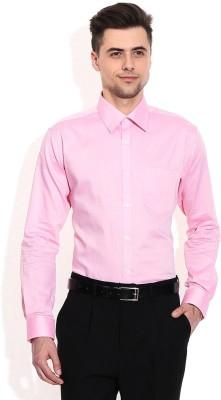 Alamurit Men's Solid Casual Pink Shirt
