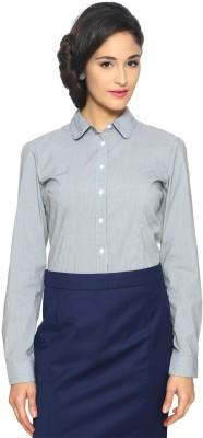 Van Heusen Women's Solid Formal Grey Shirt