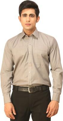 Seven Days Men's Solid Formal Grey Shirt