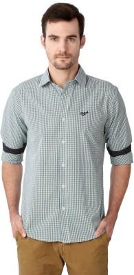 University of Oxford Men's Checkered Casual Green Shirt