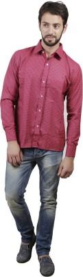 FDS Men's Checkered Formal Maroon Shirt