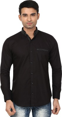 Smile By Nature Men's Solid Casual, Formal, Party Black Shirt