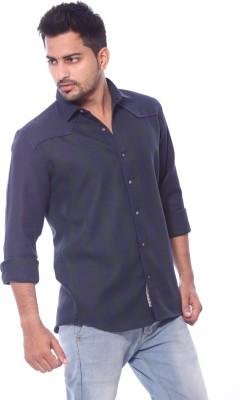 Roger Clothier Men's Self Design Casual Multicolor Shirt