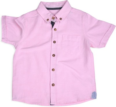 Mothercare Boy's Solid Casual Purple Shirt