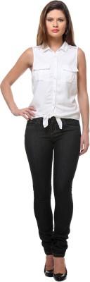 Senora Women,s Solid Casual White Shirt