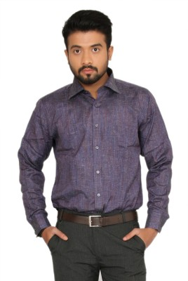 Indian Weller Men's Woven Formal Purple Shirt