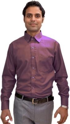 AVS Polo Men's Solid Casual Purple Shirt