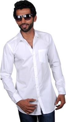 maclavaro Men's Solid Casual White Shirt