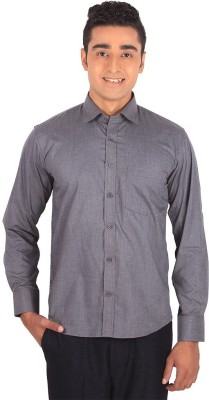 Henry Spark Men's Solid Casual Grey Shirt
