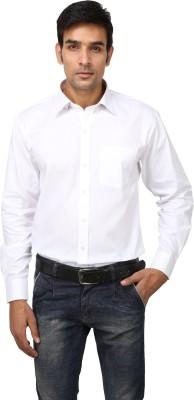 Aaral Men's Solid Formal White Shirt