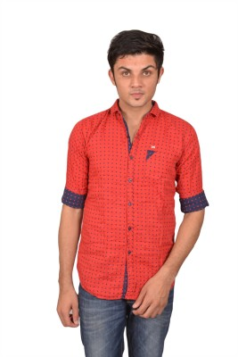Suzee Men's Solid Casual Red, Blue Shirt