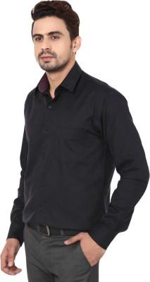Hanu Men's Solid Casual Black Shirt