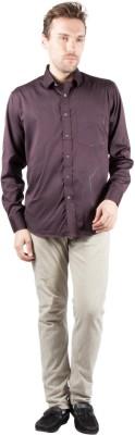 Jappshop Men's Woven Casual Brown Shirt