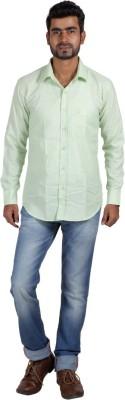 Sealion Men's Solid Casual Light Green Shirt