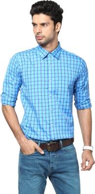 Saffire Men,s Checkered Casual Blue Shirt