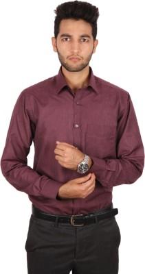 Styllus Men's Solid Formal Maroon Shirt