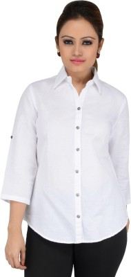 Download Apparel Women's Solid Casual, Formal White Shirt
