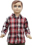 Urban Forest Boys Checkered Casual Red S...