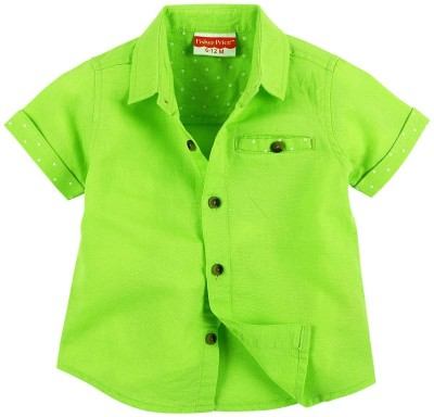 Fisher-Price Boy's Solid Casual Green Shirt