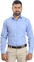 Player Formal Shirts (Men's) - Player Men's Solid Formal Blue Shirt