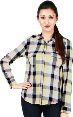 Kasturi Women's Checkered Casual Shirt