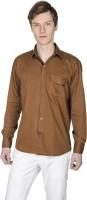 Poker Dreamz Formal Shirts (Men's) - Poker Dreamz Men's Solid Formal Brown Shirt