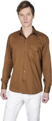 Poker Dreamz Men's Solid Formal Brown Shirt